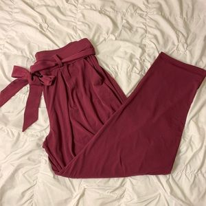 Express stretchy paper bag pants